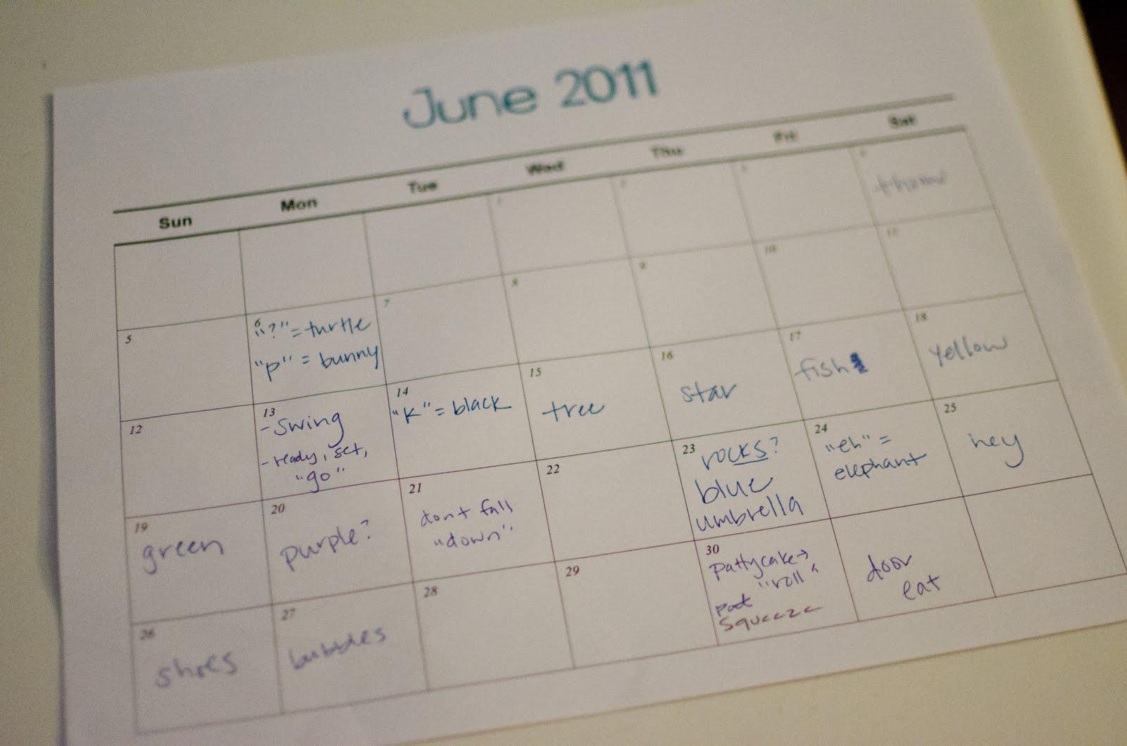 word-calendar